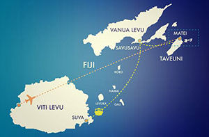 Flag_map_of_Maqai_Travel-routes-fiji-small